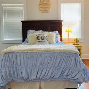 Queen Size Light Blue Anthropologie Duvet
